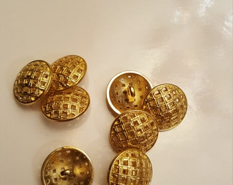"SALE Set of 8 3/4"" buttons Gold"