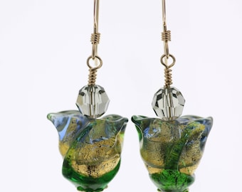 Tulip Venetian Glass Earrings