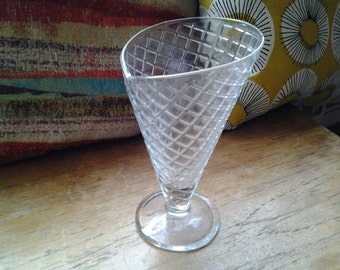 Vintage glass sundae dishes