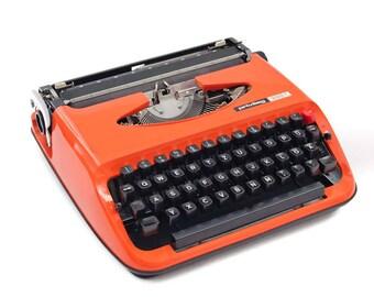 1970s typewriter Privileg 300T, tangerine