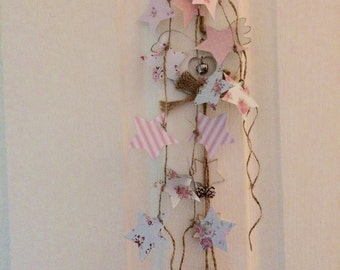 Shabby Chic personalised Cath Kidston StylePaper Star Bunting Habdcrafted