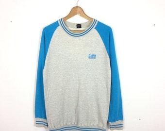 Vintage Adidas Club Trefoil Sweatshirt/ Adidas Hoodie/ Adidas Big Logo/ Adidas Trefoil/ Adidas Jacket