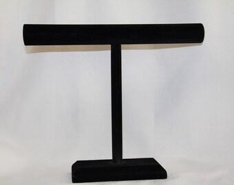 Darice Black Velvet T Bar Jewelry Stand