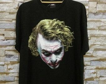 SUPER RARE Vintage Joker T-Shirt The Dark Knight Dc Comics 80s