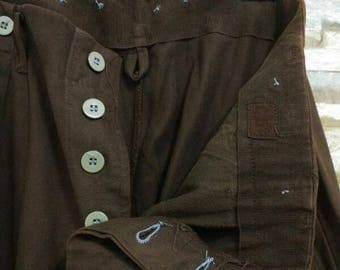 RARE 1960s Army Trousers Pants Military Olive Drab OD Suspender WW2 C54 Nigel Cabourn Engineered Garment Buzz Rickson Rrl Usn
