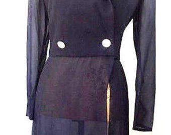 Vintage  AKRIS made in Switzerland sheer silk jacket**  US4,  FR 36, CH 34