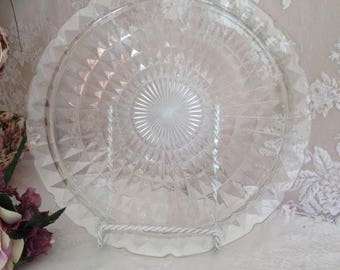 1930 1940 Design Glass Serving Plate