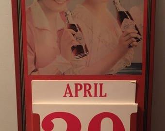 Vintage Coca Cola calendar metal original