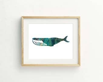 Whale Ink Print