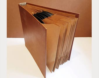 Vintage RCA Victor Record Binder with 12 Ten-Inch '78' Records