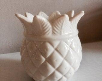 Pineapple ceramic tea light candle holder
