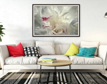 picture of white peony, print art, photography, 8x12, 10x15, 12x18, 14x21, wall decoration, soft foto print, photo abstract flower, picture