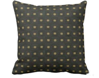 Black and Gold Pillow - White and Gold Pillow -Black Throw Pillow - Deer Pillow - Decorative Throw Pillow - Black Throw Pillow Cover