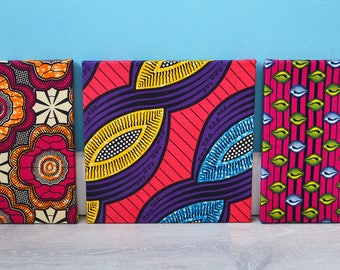 Wall decoration African fabric 3 x | Wall decoration African fabric | Ankara | Pink | Pink
