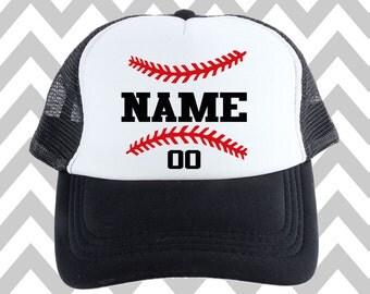 Customized Baseball Trucker Hat Snapback Hat Custom Trucker Hat Gameday Hat Sports Mom Gift For Baseball Mom Game Day Hat Custom Name #