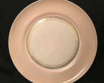 American Federal Limoges Coral Pink Dishes with Gold trim-Set of 27 pieces