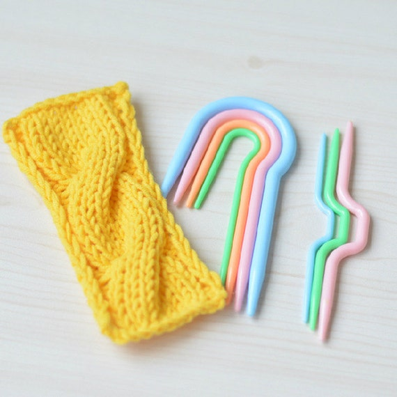 Cable Hook Knitting : Plastic knitting needles cable hook stitch holders pcs