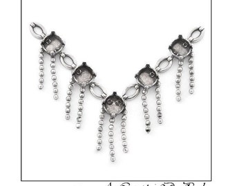 Centerpiece for Necklace with ball chain