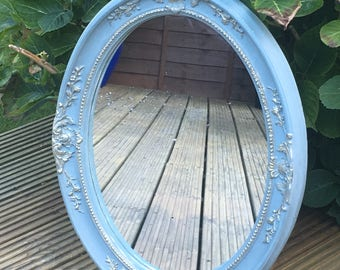 Ornate Duck Egg Blue and Gold Mirror//Home Sweet Home//Gifts//Furniture//Home Decor//The Little House of Vintage