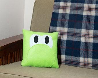 Decorative Felt & Fleece Yoshi Pillow from Nintendo's Mario