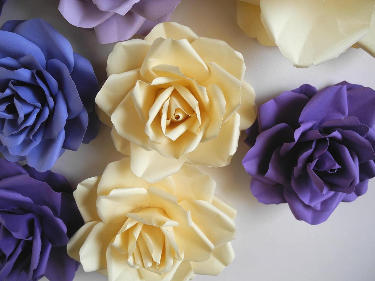 Big wedding paper flowers Set of 10 Bridal shower decor 5 Flower ...