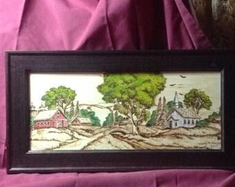 Woodburning farm town