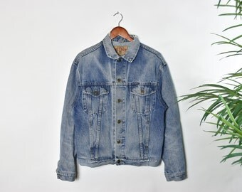 Vintage Worn Light Washed Denim Jacket