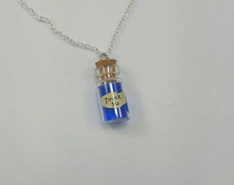 Drink Me Bottle Necklace, Alice in Wonderland Jewelry