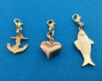 Anchor/Heart/Fish Charms