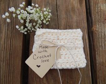 3 Mini Cotton Crochet Dishcloths