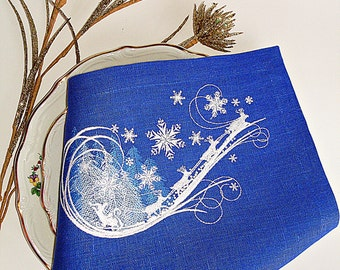Embroidered Christmas Snowflake Cloth Napkins,christmas napkins,christmas cloth napkins,snowflake napkins,snowflake cloth napkins,gift