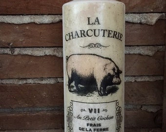 Large | 7X3 | Pillar Candle | Paris/London | Pig | Country Inspired