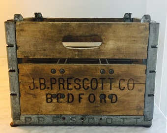 Completely Original - Industrial Wooden Crate w/ makers mark