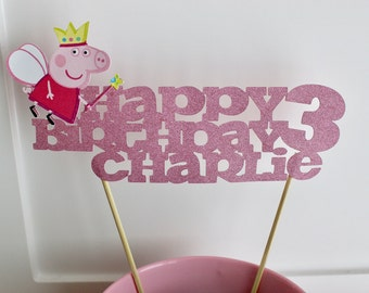 Peppa Pig Cake Topper, Peppa Pig Birthday, Peppa Party, Peppa Pig