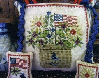 Patriotic Scissor Pocket by The Scarlett House Counted Cross Stitch Pattern/Chart