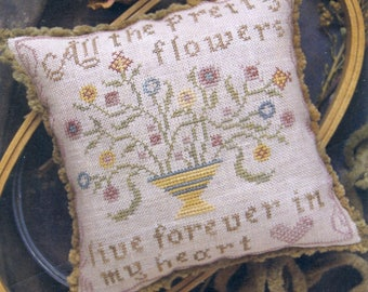 All the Pretty Flowers by Heartstring Samplery Counted Cross Stitch Pattern/Chart
