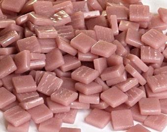 12mm Mosaic Craft Tiles - Dusky Pink Gloss - 50g