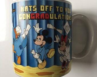 Vintage 1988 Walt Disney mugs by Applause Graduation coffee mug grad gift graduation gift