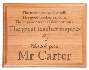 Great Teacher Plaque