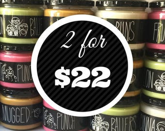 Any 2 Candles for 22 dollars - WitWicks 12oz Soy Container Candle - Scented - Funny Candle - Unique Gift Ideas - Handmade Gift