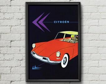 Citroen ds etsy for Garage citroen pantin atelier