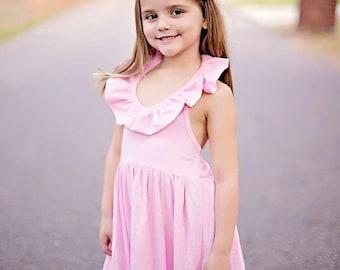 Girls Pink Maxi Dress