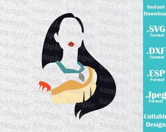 INSTANT DOWNLOAD SVG Disney Inspired Princess Pocahontas for Cutting Machines Svg, Esp, Dxf and Jpeg Format Cricut Silhouette
