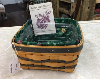 Longaberger Basket Lavender Booking Basket 10138