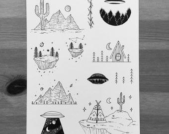 Space print (A5)