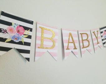 Black And White Baby Shower, Kate Spade Baby Shower Banner, Baby Shower  Decorations,