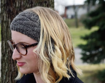 Wool Cabled Headwrap