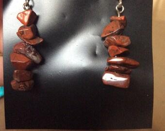 Pebble rock dangle  earrings