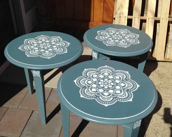 SOLD- Stenciled tables