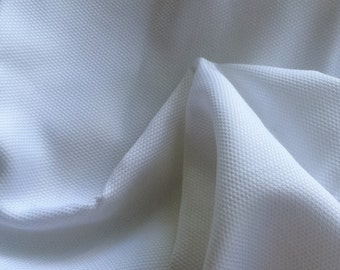 White Cotton Pique Fabric ~ Includes Shipping